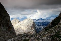 Skarpa kanter och maxima i Triglav sjöar dal, Julian Alps Fotografering för Bildbyråer
