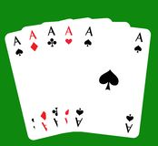 skat покера 5 тузов Стоковое Фото