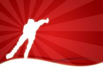 Skate. Wallpaper background with a silhouette of a man skating royalty free illustration