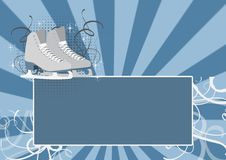 Skate background. Figure Skating bacground, skate on ice background with space Royalty Free Stock Photography