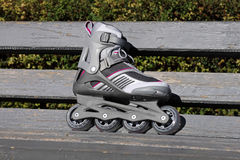 Skate on a bench. In park Royalty Free Stock Photos