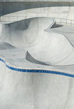 Skate and Bike Park. Concrete Skate and Bike Park with Tubes and Jumps Royalty Free Stock Photography