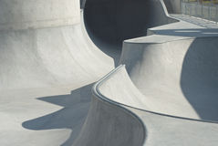 Skate and Bike Park. Concrete Skate and Bike Park with Tubes and Jumps Stock Images
