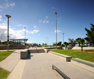 Skate BMX Park. Concrete Skate BMX park with bowl in Carins Australia Royalty Free Stock Photography