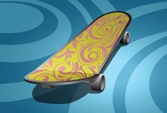 Skate board illustration Royalty Free Stock Images