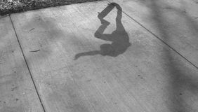 Skate board shadow Stock Photo