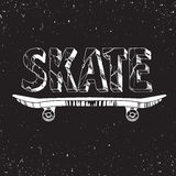 Skate board typography t-shirt graphics,sport,vectors and  pattern Royalty Free Stock Photos