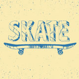 Skate board typography t-shirt graphics,sport,vectors and seamle Stock Photos