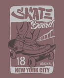 Skate board typography, t-shirt graphics, vectors. Skate board typography, t-shirt graphics, vectors design Stock Image