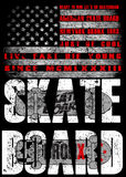 Skate board typography; t-shirt graphics; vectors Royalty Free Stock Photos