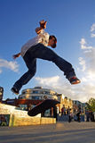 Skate Boarder Flip Stock Images