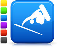 Skate boarding icon on square internet button Royalty Free Stock Photography