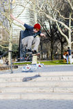 Skate boarding  in lower Manhatan Royalty Free Stock Photo