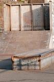 Skate boarding ramp in the skate park Royalty Free Stock Photo