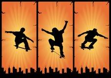 Skate boarding vector composition Stock Photography