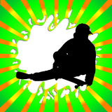 Skate boy silhouette Royalty Free Stock Photography