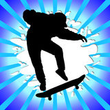 Skate boy silhouette Stock Photography