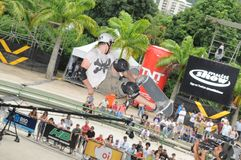 Skate Championship, OI Vert. On the skating rink of the Rodrigue de Freitas Lagoon, in the south zone of Rio de Janeironn stock photo