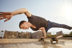 Skate in the city Royalty Free Stock Image