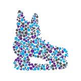 Skate consist of dots Royalty Free Stock Photo