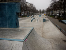 Skate court in Westblaak, Rotterdam Royalty Free Stock Images