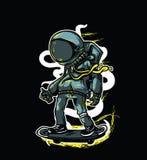 Skate de Astronot fotografia de stock