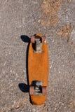 Skate de madeira da placa do patim dos anos 70 Imagens de Stock