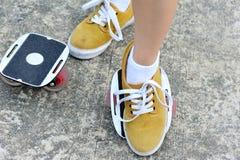 Skate do freeline da prática dos pés Imagens de Stock Royalty Free
