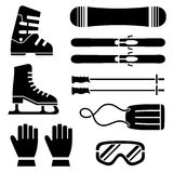 Skate Equipments Set Royalty Free Stock Images