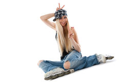 Skate girl Royalty Free Stock Photo