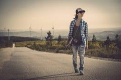 Skate girl Stock Images
