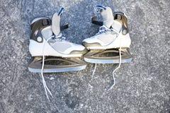 Skate ice skates outdoors winter Royalty Free Stock Image