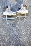 Skate ice skates outdoors winter Stock Image