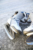 Skate ice skates outdoors winter Royalty Free Stock Image
