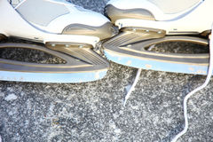 Skate ice skates outdoors winter Royalty Free Stock Photo