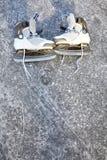 Skate ice skates outdoors winter Stock Photo