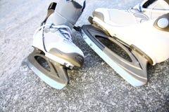 Skate ice skates outdoors winter Stock Photos