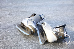 Skate ice skates outdoors winter Stock Photography