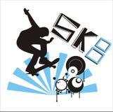 Skate illustration royalty free stock images