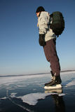 Skate on lake Stock Photos