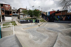 Skate lane in slum revitalized Stock Image