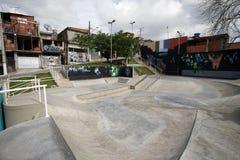 Skate lane in slum revitalized Stock Image