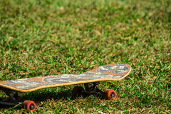 Skate on the lawn stock images