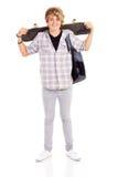 Skate levando adolescente Fotografia de Stock