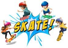 Skate logo Stock Image