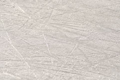 Skate marks on ice Royalty Free Stock Photo