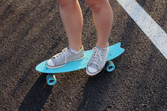 Skate na terra fotografia de stock