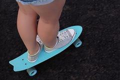 Skate na terra imagem de stock