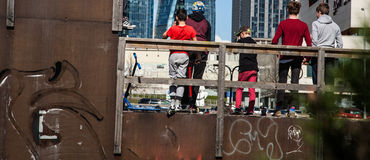 Skate Park Action royalty free stock images