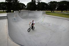 Skate park BMX royalty free stock photo